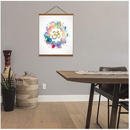 wzgsffs Mandala Lotus Datura Scroll Gemälde Wandbilder für Wohnzimmer Schlafzimmer hängen Wandkunst Poster Dekoration