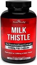 Pure Milk Thistle Capsules Supplement - A Potent 1200mg Milk Thistle Supplement with 4X Concentrated Extract (Standardized) 120 Vegetarian Capsules