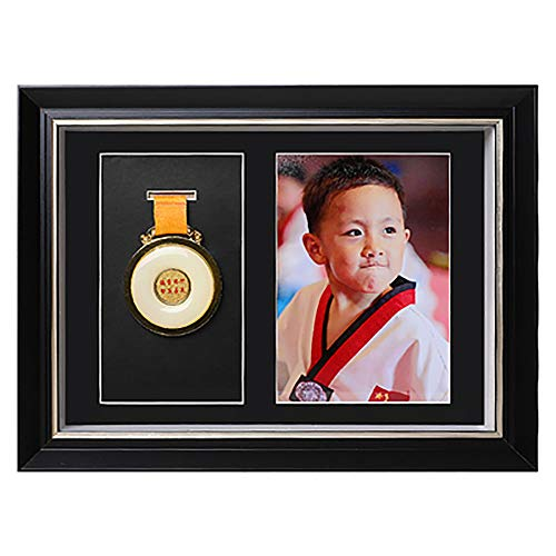 ZZPP Frame To Display Medals,Solid Wood Photo Frame 3d Deep Box Frame To Display War/Military/Sports Medals