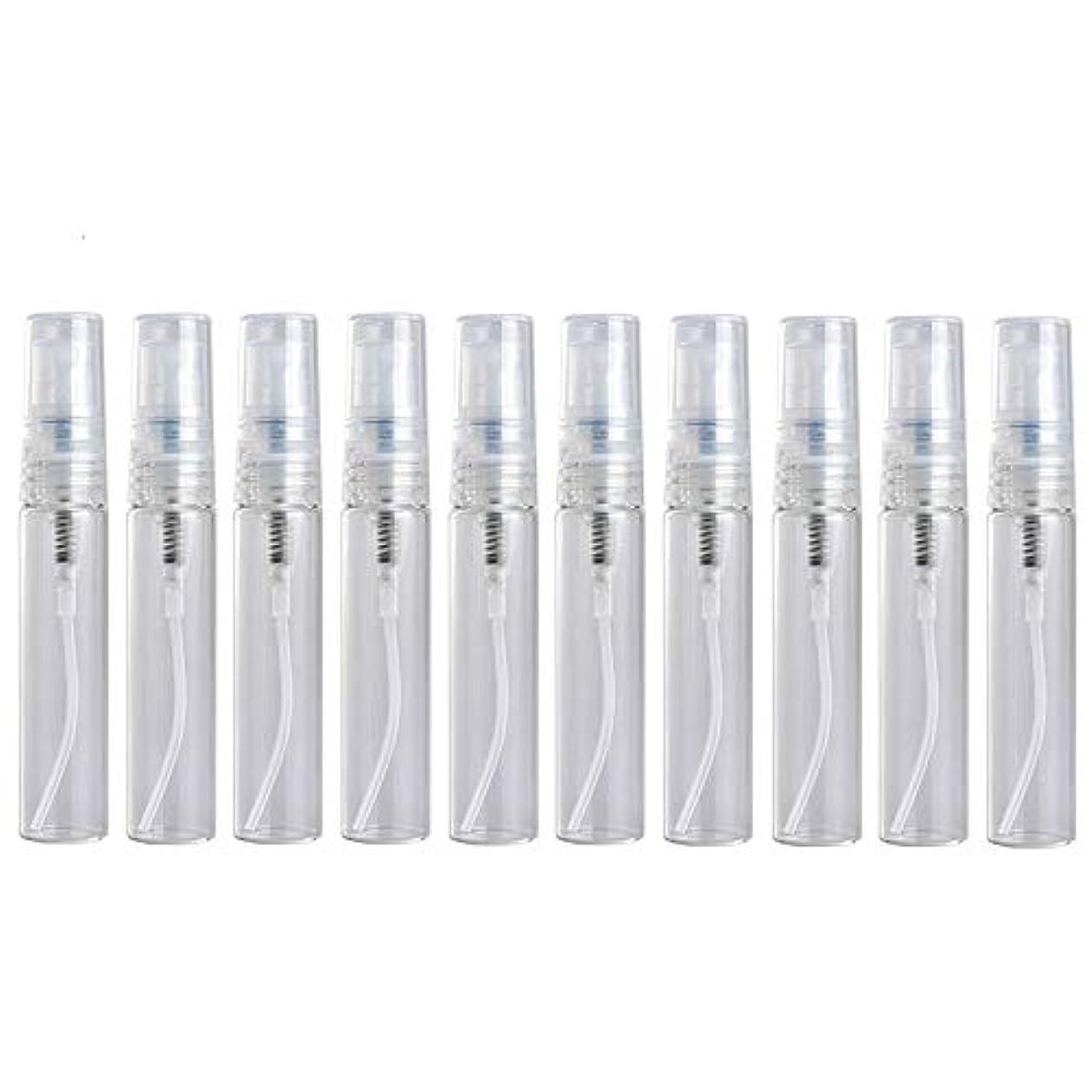 バナー衣類維持10個入り2ml/3ml/5ml 空プラスチック透明ミニスプレー香水詰め替えボトル小サンプル香水アトマイザー (5ml)