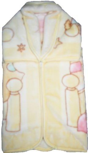 BabySac couverture bébé mixte 3 en 1 - N°116 oursons et chaton dans berceau- Beige