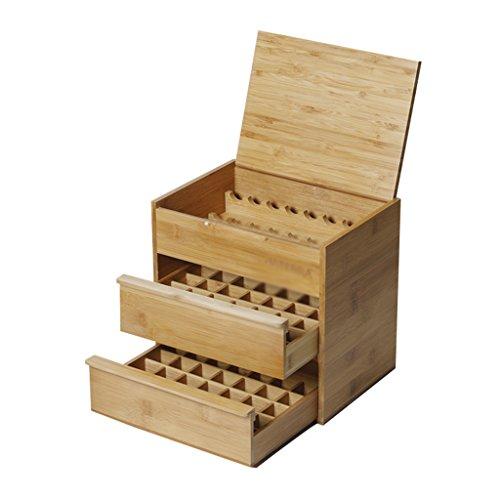Boîte de stockage d'huile essentielle, aromathérapie boîte de rangement trois huile essentielle boîte de rangement huile essentielle boîte en bois portable huile essentielle stockage rack petit objet