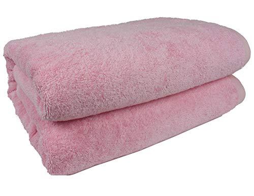 "SALBAKOS 40""x80"" Turkish Cotton Bath Sheet, Luxury, Eco-Friendly Oversized - Extra Large Bath Towels - XL, Toallas De Baño | Bano Grandes (40x80, Rose)"