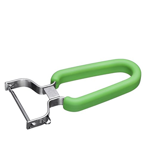 Swissler Silicone Non Slip Grip Ultra Sharp Stainless Steel Swiss Y Peeler For Fruits And Vegtables GREEN