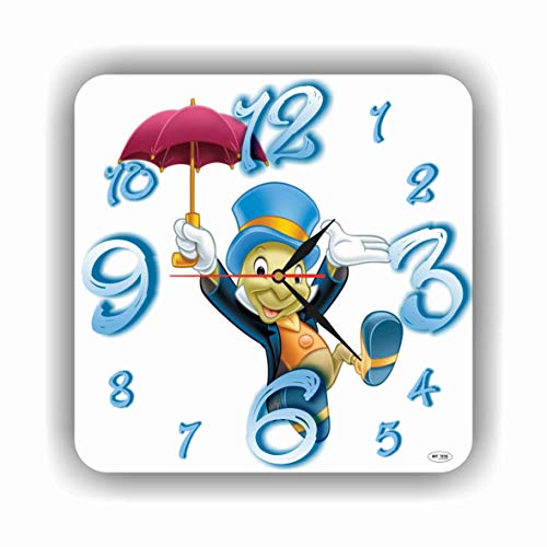 Art time production Jiminy Cricket - Pinocchio 11'' Handmade Wall Clock - Get Unique décor for Home or Office – Best Gift Ideas for Kids, Friends, Parents and Your Soul Mates