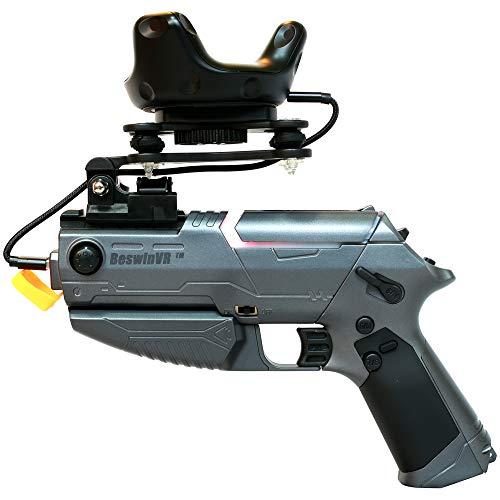 VR Gun Mini mit erzwungenem Feedback BeswinVR- Kompatibel mit HTC Vive | Ventilindex | Pimax Headset Virtual Reality - für Game Pistol Whip, Superhot VR, Overkill VR SteamVR-Spiel
