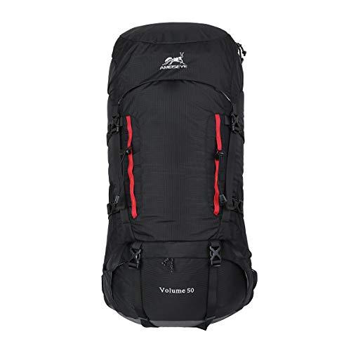 Eshow Zaino Unisex 50 Litri Impermeabile Leggero Copertina Antipioggia Trekking Outdoor Sport Alpinismo Escursionismo Campeggio Viaggio (Verde)