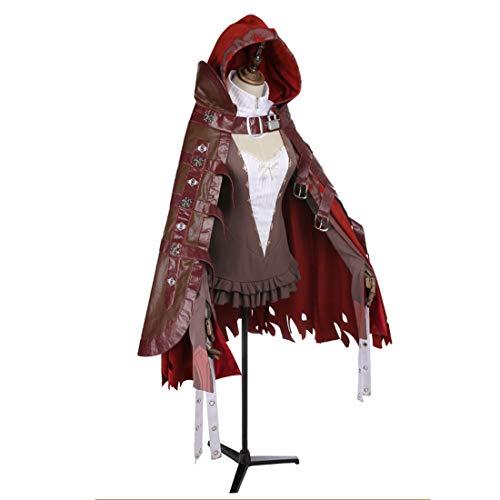 MAJOZ0 Disfraz de cosplay, vestido de Caperucita Roja, disfraz de Halloween para fiesta de disfraces (sin armas ni accesorios)