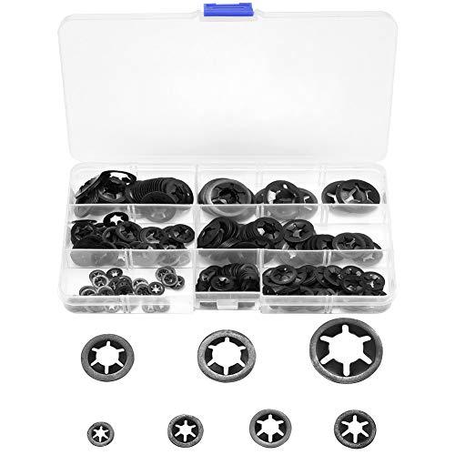 Starlock Juego de arandelas de seguridad para dientes M5 M6 color negro M8 M4 M10 y M12 360 unidades M2 M3