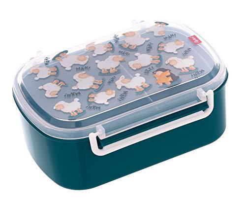 SIGIKID 25134 Brotzeitbox Farm OnTour Lunchbox BPA-frei Mädchen & Jungen Lunchbox empfohlen ab 2 Jahren blaub