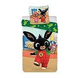 BrandMac ApS Parure da Letto per Bambini, 100% Cotone e Reversibile, Copripiumino 100 x 135 cm + Federa 40 x 60 cm