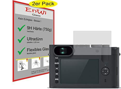 EnWi | 2X Panzer-Glas-Folie 9H Bildschirm-Schutz-Folie für Leica Q-P