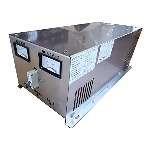 Plusenergy wccsolar Estabilizador de Voltaje AC 3000va 5000va 8000va Regulador de Voltaje para generador o Corriente de la Calle inestable Desde 160-260v a 230v Estable (8000VA)
