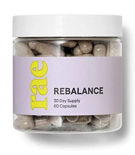 Rae Rebalance Hormone Supplements 60 Capsules! Formulated with Vitamins, Superfood Mushrooms and Digestive Enzymes! Supports Your Hormones, Mood and Minimize Bloating! Non-GMO, Gluten Free and Vegan!