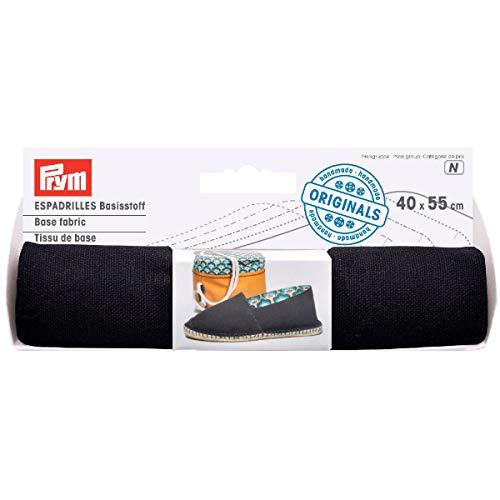 932411 espadrilles - basisstof 40x55cm zwart (n KTE á 0,22 m2