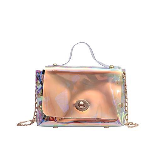 Damen Umhängetasche Vintage Umhängetaschen Crossbody Schultertasche Kunstleder Handtasche Umhängetasche Damen Citytasche Schultertasche (klares)