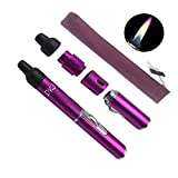 Torch Lighters, Torch Lighter Cigar Lighter FengFang Portable Metal All in One Pipe Built-in Detachable Inflatable (purple)