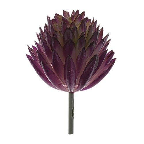 Echeveria Fleur Feuillage Plante Succulente Artificielle Décoration Pourpre