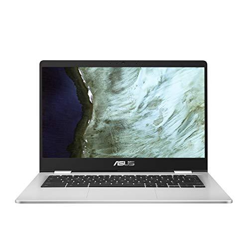 ASUS Chromebook Z1400CN-EB0420 - Portátil de 14' FullHD (Celeron N3350, 4GB RAM, 32GB eMMC, HD Graphics 500, Chrome OS) Plata - Teclado QWERTY español