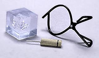 International Miniatures by Classics Dollhouse Miniature Vintage Look Ice Block and Ice Pick