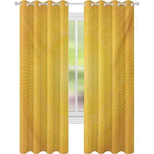 Moden - Tende termiche con immagine digitale del sole con luce del sole a pixel circolari, larghezza...