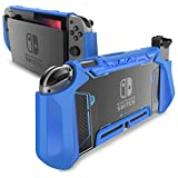 Mumba Dockable Case for Nintendo Switch, [Blade Series] TPU Grip Protective Cover Case Compatible with Nintendo Switch Console and Joy-Con Controller (Navy)