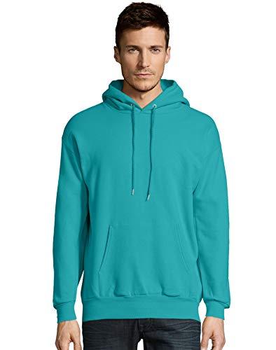 Hanes Mens ComfortBlend EcoSmart Pullover Hoodie Sweatshirt, XL, Teal