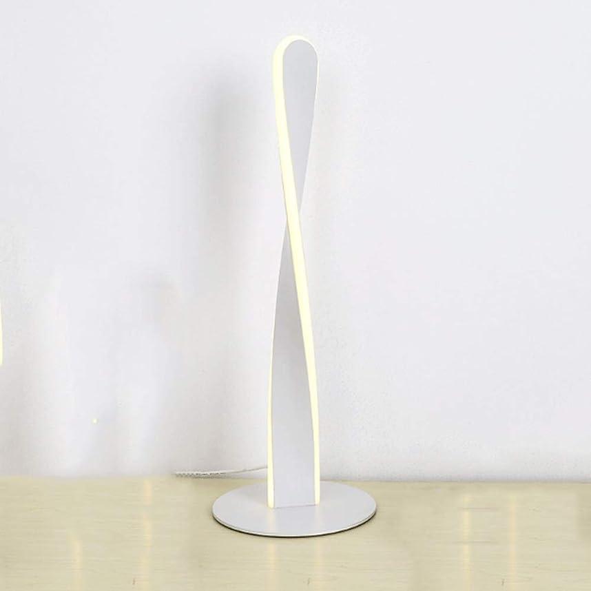 Radciy ミニマリストクリエイティブテーブルランプベッドルームパーソナリティ北欧シンプル調光ポストモダン装飾テーブルランプベッドサイドミニマリストデスクランプ (Color : White)