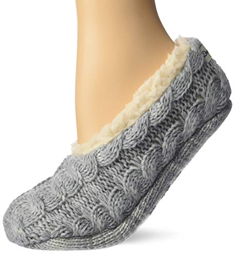 Women's Space-Dye Cable Knit Toasty Slipper Sock. Zapatillas Calcetines de casa de Mujer Dearfoams, Confort y Suave con Memory Foam. Lavable, Suela Antideslizante
