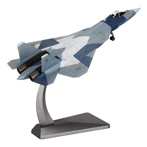 Hellery Su-57 Modelo de Aleación Aviones de Combate Reducido de Miniatura Recuerdo Militar