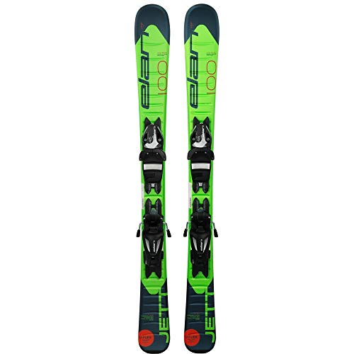 Elan (ELAQM) Kids Elan Early Rise Rocker JETT Quick Shift Ski, Größe 90 cm, grün/blau, 90 cm, Q102034