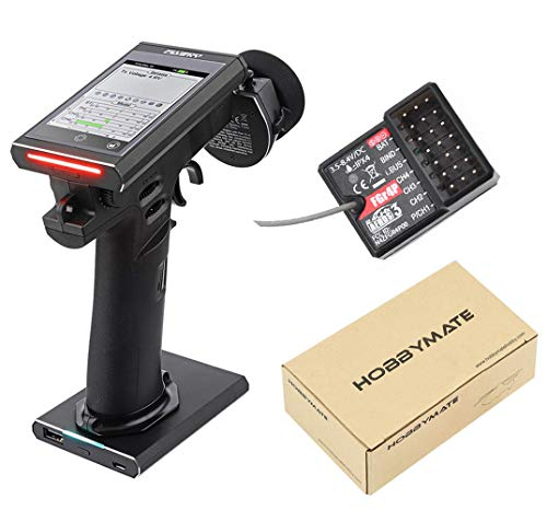 FS Flysky RC Noble FS-NB4 Remote Controller Radio Transmitter for Rc Car/Truck/Boat w/ FGr4P Receiver, Transmitter Battery