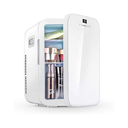 Mini réfrigérateur, réfrigérateur de soins de la peau de 20 L avec contrôle de la température, glacière et réchaud thermoélectrique portable AC / DC 12 V pour chambres à coucher, cosmétiques, médicame