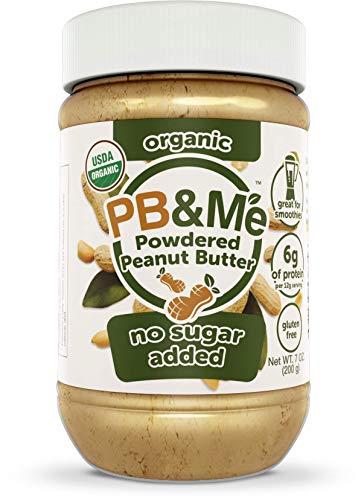 PB&Me USDA Organic Powdered Peanut Butter, Keto Snack, Gluten Free, Plant Protein, No Sugar Added, 7 Ounce