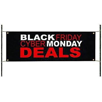 "Black Friday Cyber Monday Deals Holiday Novelty Black Friday Sales 2020 Indoor Outdoor Vinyl Banner Sign 36  x 96"""