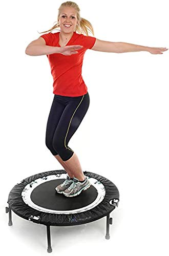 Maximus Life Bounce & Burn Foldable Indoor Mini Trampoline Rebounder for Adults. Fun Way to Lose Weight and get FIT! Plus Rebounding Exercise DVD/Online Video| Optional Handle Bar | Already Assembled