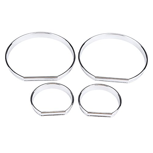 Car Dashboard Decoration Frame, 4 Pcs Car Front Dashboard Speedometer Gauge Decoration Frame Dial Rings Trim for BM W E46