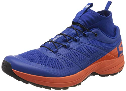 Salomon XA Enduro, Zapatillas de Trail Running Hombre, Azul (Surf The Web/Flame/Black), 45 1/3 EU
