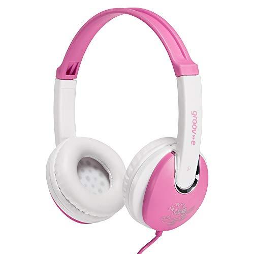 Groov-e Kidz On-Ear DJ Style Headphones  with Adjustable Headband, Soft Ear Pads, 3.5mm Headphone Socket for Smartphones, Tablets & Laptops - Pink