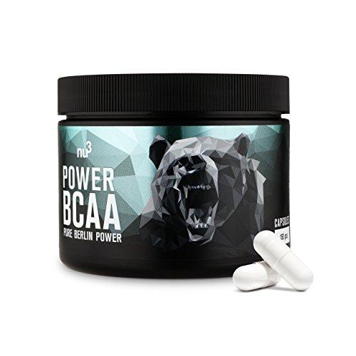nu3 Power BCAA Kapseln - essentielle Aminosäuren im 2:1:1 Verhältnis - 150 Stück pro Dose - 4 g BCAAs pro Tagesration - für Kraft & Leistungssport - unterstützt beim Abnehmen - vegan & zuckerfrei