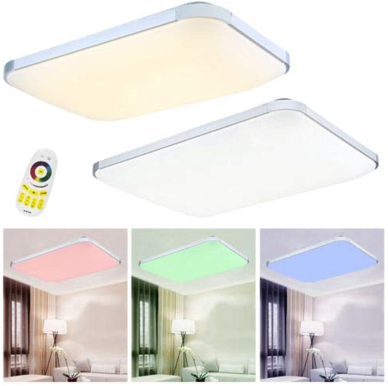 MCTECH LED Deckenleuchte 48W RGB Modern Deckenlampe Fernbedienung Flur Wohnzimmer Lampe Schlafzimmer Küche Esszimmer Badleuchte Deckenbeleuchtung