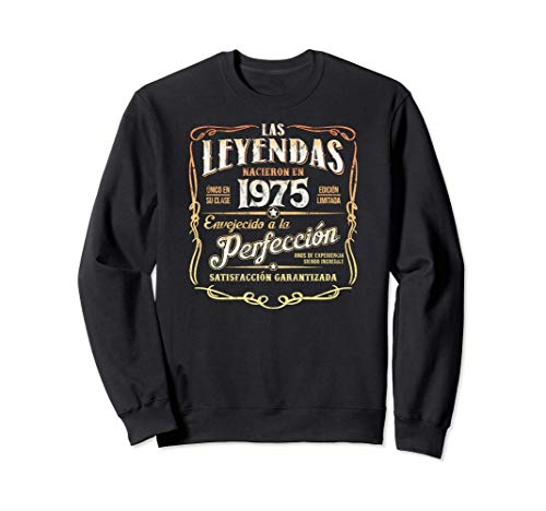 Las Leyendas Nacieron En 1975 Vintage Original 46 Cumpleaños Sudadera