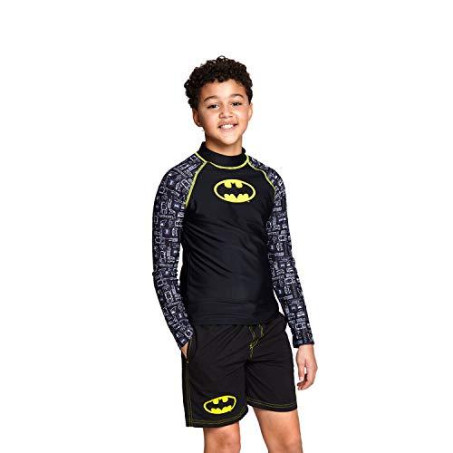 Zoggs Batman - Camiseta de Manga larga para niño con protección Solar UPF 50+