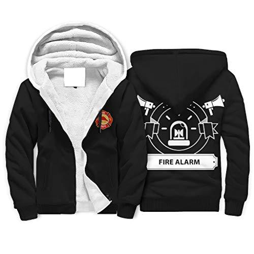 Twelve constellations Sudadera con capucha de bombero para adulto, suave, indispensable, manga larga, color blanco, 4XL