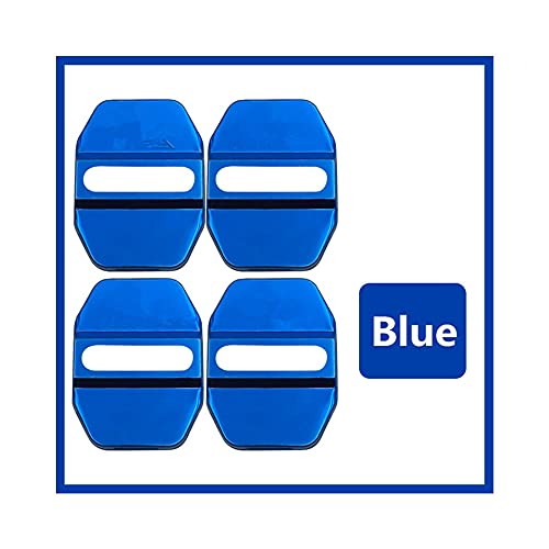 Cubierta de Cerradura de Puerta, estilismo de automóviles Auto Funda para Mercedes Benz M ML SLK GLK GLK GLA C B E GLC Clase AMG Auto Auto Car-Styling Accesorios,Azul