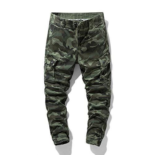 Men's Cargo Pants Overalls Clothing Pants Masculino Fashion Work Multi Pocket Men Bl9011green 36