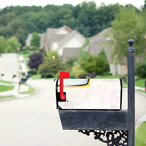 LONGYUU Retro-Vintage Orange Tv Standardgröße Original Magnetic Mail Anschreiben Briefkasten 21 x 18 Zoll Mailbox Wraps Covers Mailbox Decor Mailwraps Mailbox Covers