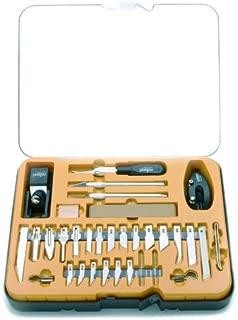 Rolson Tools 62926 Hobby - Juego de cortadores y cuchillas intercambiables (36 piezas, maletín de plástico transparente)