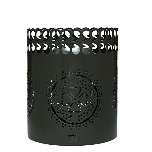 TIKI Brand 6' Clean Burn Flame shield Tabletop Torch Lantern, Gunmetal