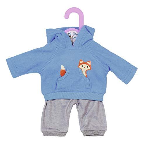 Zapf Creation 870846 Dolly Moda Sport-Outfit Blau Puppenkleidung 28-33 cm, blau/grau